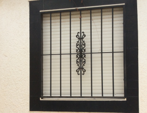 Metal Single window nr 10 home security in Murcia by Eriks Metal Work