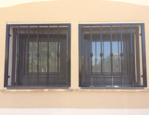 Metal Single window nr 12 home security in Murcia by Eriks Metal Work