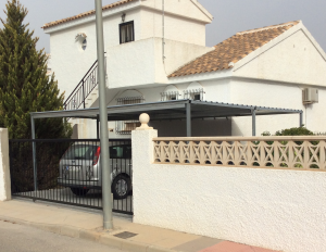 Metal Carports nr 2 home security in Murcia by Eriks Metal Work