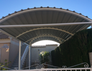 Metal Carports nr 4 home security in Murcia by Eriks Metal Work