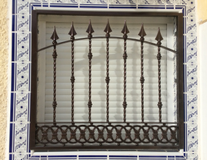 Metal Single window nr 2 home security in Murcia by Eriks Metal Work