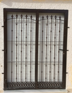 Metal Fire-escape window nr 3 home security in Murcia by Eriks Metal Work